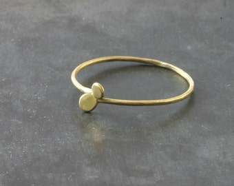 Ring 18-kt gold discs