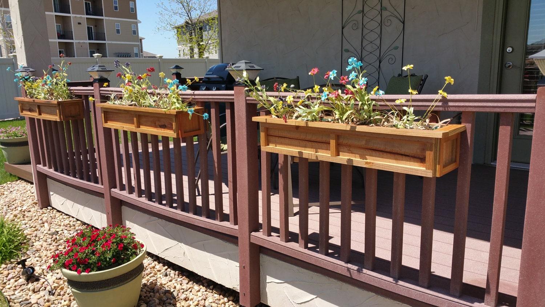 Redwood Universal Deck Rail Planter Box by KSTVcreations ...