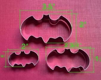 Batman Cookie Cutter 3 Piece Set, Cookies, Baking, Fondant, Crafts
