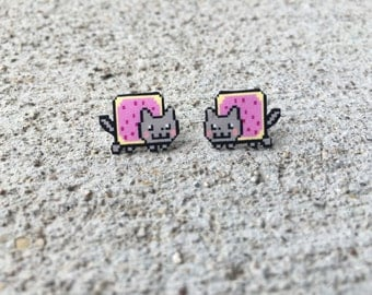Nyan Cat Stud Earrings