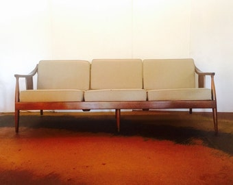Mid Century Modern DANISH Sofa FABRIC MINT Condition!