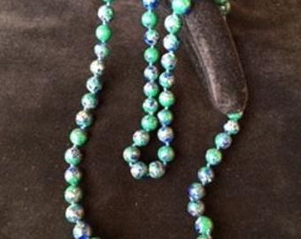 8 mm Azurite bead necklace