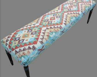 Kilim Covered Bench