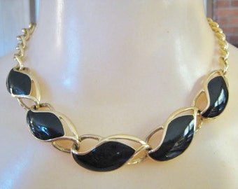 Black & Gold Tone Necklace