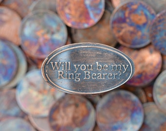 Ring Bearer Gift • Copper • Engagement Collection • Ring Bearer • Pressed Penny