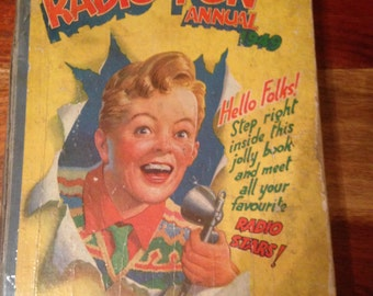 1949 Radio Fun Annual - cover a little worn inside in good condition