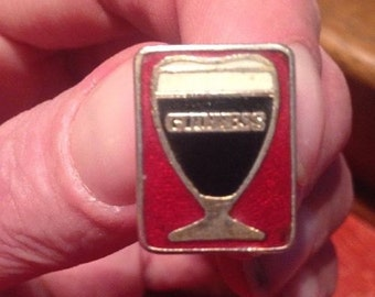 Genuine Vintage Enamel Guinness Cufflinks. Showing A Chalice style Glass Full of Guinness. Excellent Condition.