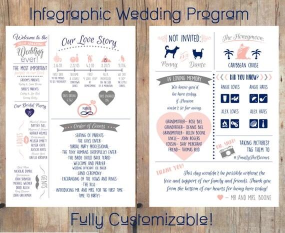 Items Similar To Infographic Wedding Program On Etsy