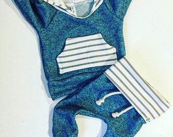 Baby boy outfit / baby clothes / take home outfit / newborn baby girl / baby boy gift / hospital outfit / blue / stripes / boy toddler