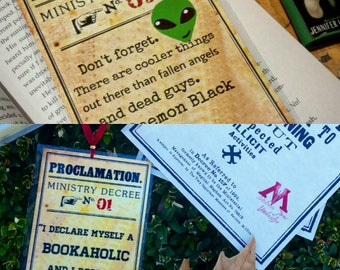 Harry Potter Proclamation Bookaholic//Handmade: Bookmark