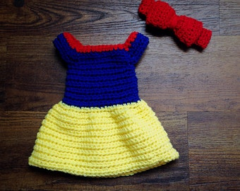 Disney Snow White Newborn Baby Girl Photo Shoot Prop Outfit