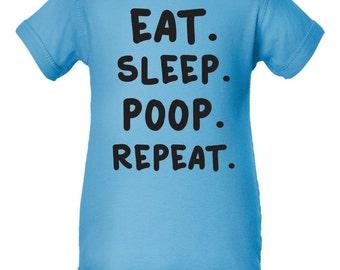 Eat Sleep Poop Repeat Onsie. Funny Onsie. Baby Boy Onsie. Baby Girl Onsie.