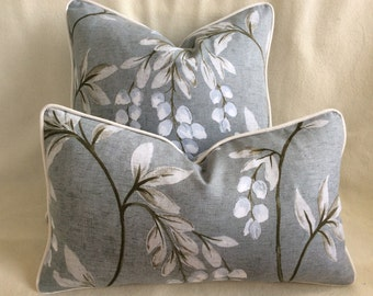 Chic Designer Pillow Cover Set - 2pc - Gray and White