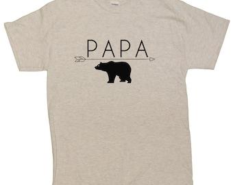 Men's Papa Bear Funny Dad T-Shirt