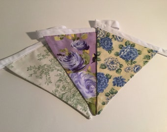 Purple/Green/Yellow Floral Bunting