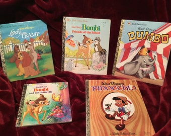 Set of 5 Little Golden Books dates from 1975-2004