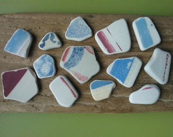 Scottish beach pottery , beach pottery shards , pottery pieces , mosaic pieces