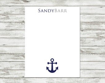 Personalized Notepad, Anchor Notepad, Nautical, Anchor, Nautical Notepad, Custom Notepad, Beach, Beach Notepad, Coastal, Coastal Notepad