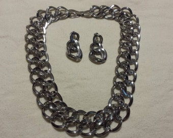 Chainmail Necklace and Earrings