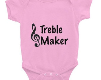 Treble Maker Baby Onesie Music Infant short sleeve one-piece