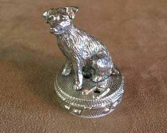Musical Pewter Jack Russell Terrier Dog. Choose From the Available Tunes.   Made in Texas
