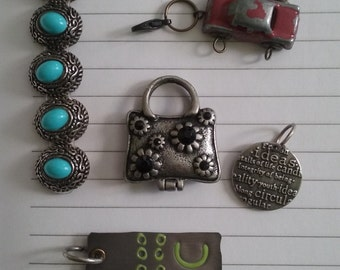 old fashion beads and charms