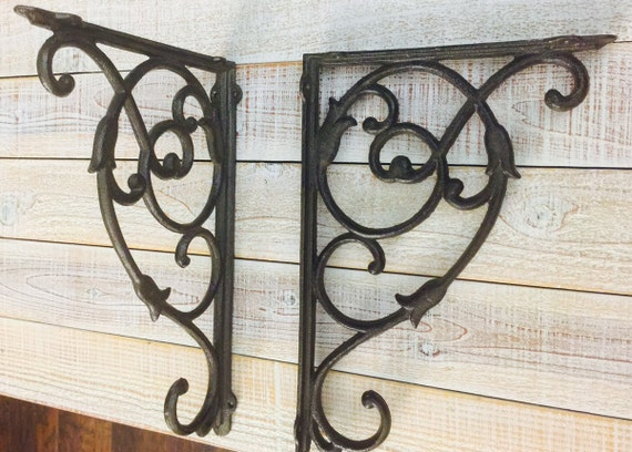 Iron Brackets EXTRA LARGE Shelf Brackets Rustic