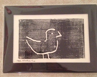 Sale - A Simple Bird - Woodblock Print selling 2nd of 10
