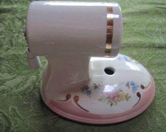 Vintage Pink Porcelain Wall Sconce Lighting Fixture - Item #1115