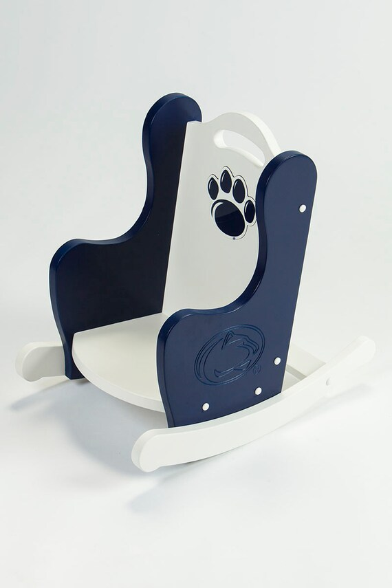 Kids Rocking Chair, Handcrafted Chair - Penn State Nittany Lion