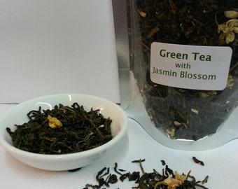 Loose Leaf Tea - Green Tea with Jasmin Blossom - 100gms