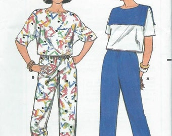 Butterrick sewing pattern 3125, women's pants and top