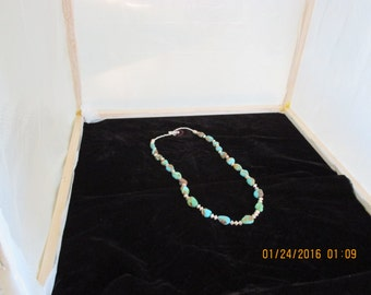 Silver &turquoise necklace