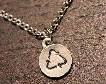 Dainty Recycle Symbol Necklace