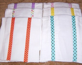 Ribbon Burp Cloths