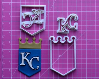 Kansas City Royals Fondant Cutter  kansas city royals baby,kansas city royals shoes,kansas city royals scarf,kansas city royals ribbon,