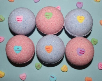 Valentines Day Sweetheart Bath Bomb 6 Pack Gift Set
