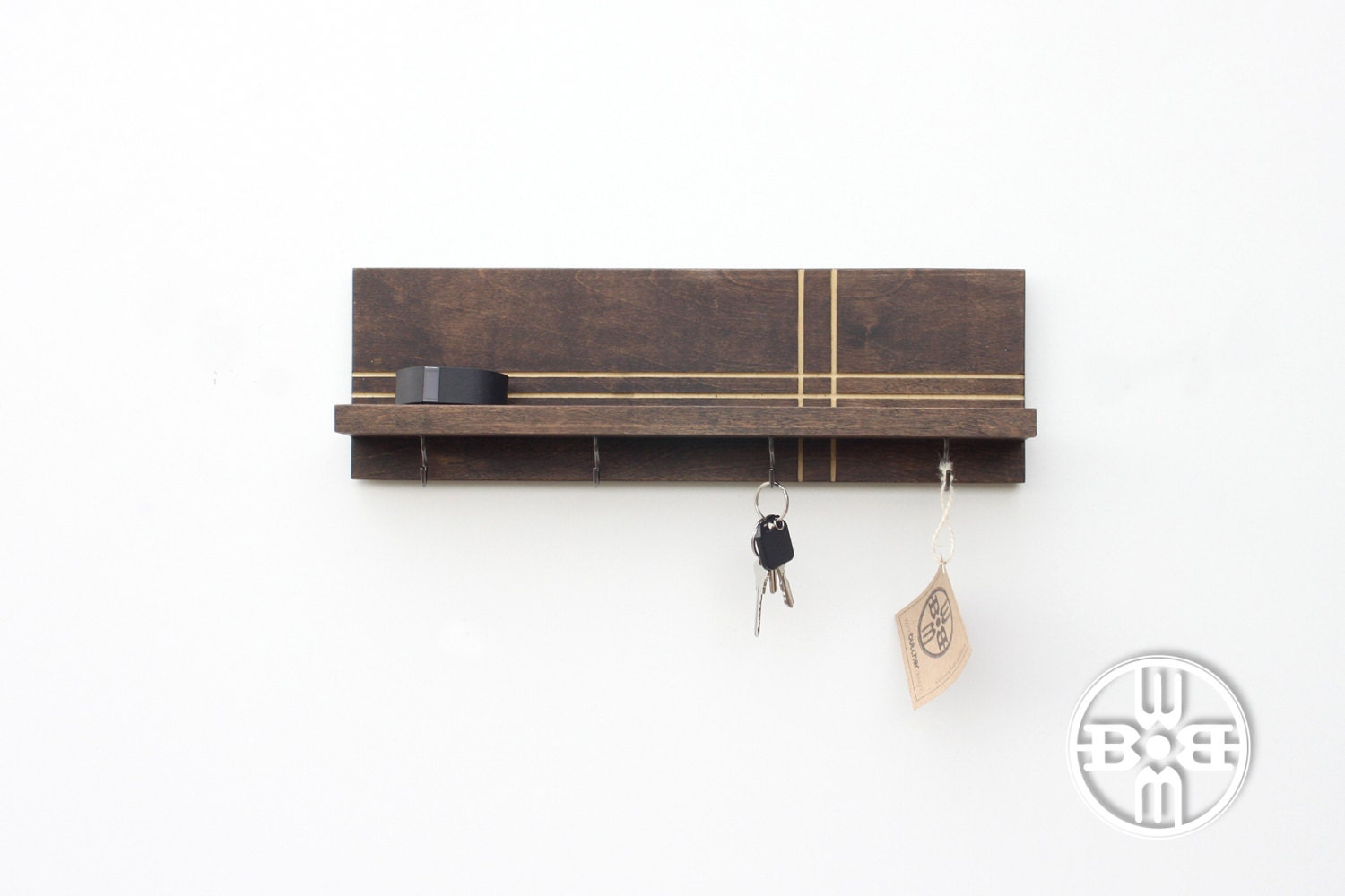 Key holder for wall key holder wood shelf key rack shelf - Key racks for wall ...