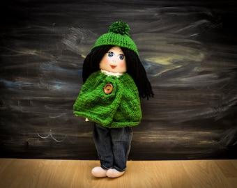 Custom handmade fabric doll