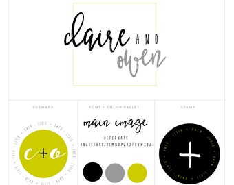 premade logo package // logo package // blog header package // photography logo package