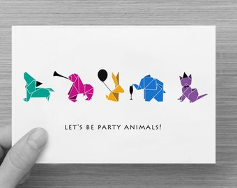 Birthday Invitation - Folded Card - Digital or Printed copy