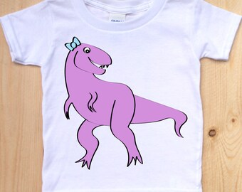 Tyrannosaurus Rex Toddler Shirt/ Cute Dinosaur Shirt/ Purple T Rex/ Purple Dinosaur/ Dino T Shirt/ Happy Dinosaur/ Dinosaur for Kids