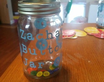 Glass money jar, vacation fund jar, swear jar, button jar, glass jar, saving for a trip jar, marble jar
