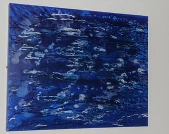Abstract Blue Night of Wonder