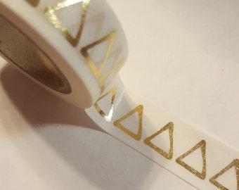 Gold Foil Triangle Washi Tape