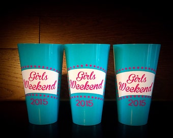 Girls Weekend 2016 Personalized Anchor Cups