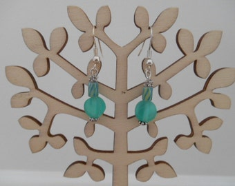 Earrings Green and Stripped