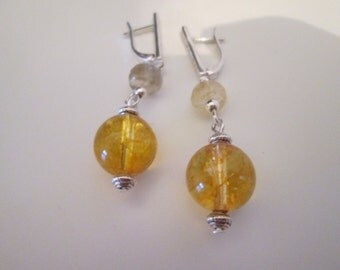 925 with citrine Sterling Silver earrings