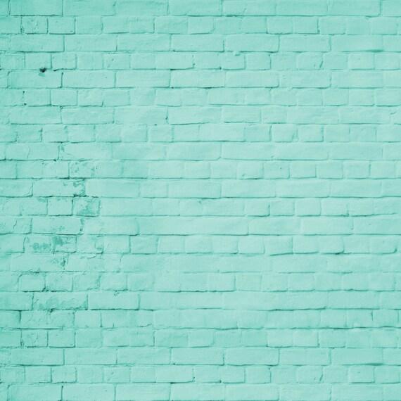 Turquesa ladrillo tel n de fondo pared de ladrillo de color - Ladrillos de colores ...