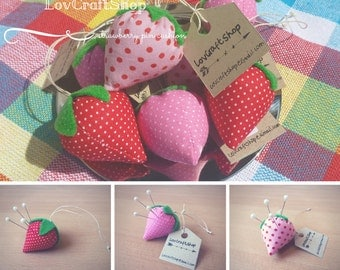 Cute strawberry pincushion